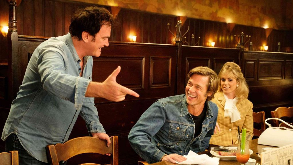 Quentin Tarantino dirigiendo Once Upon a Time in Hollywood