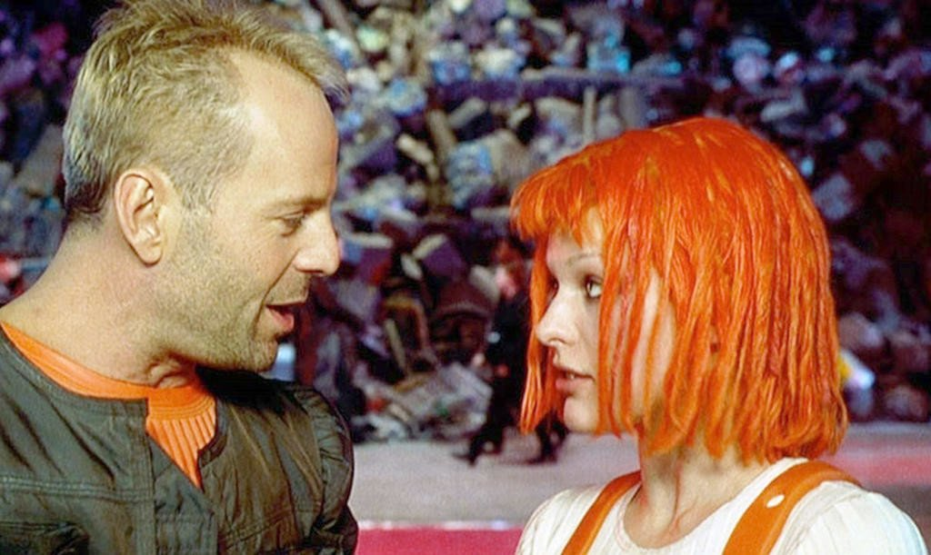 Korben y Leeloo en The Fifth Element inocencia