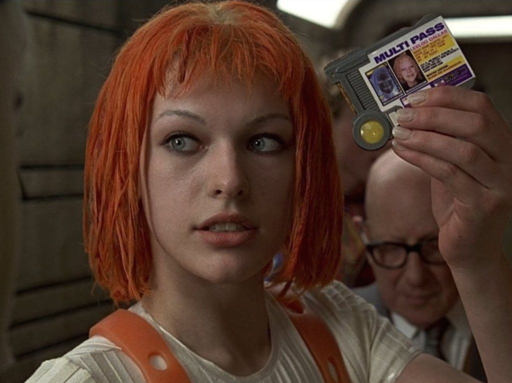 Leeloo en The Fifth Element inocencia