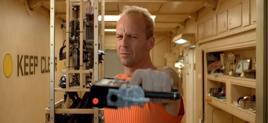 Bruce Willis como Korben Dallas en The Fifth Element (1997)