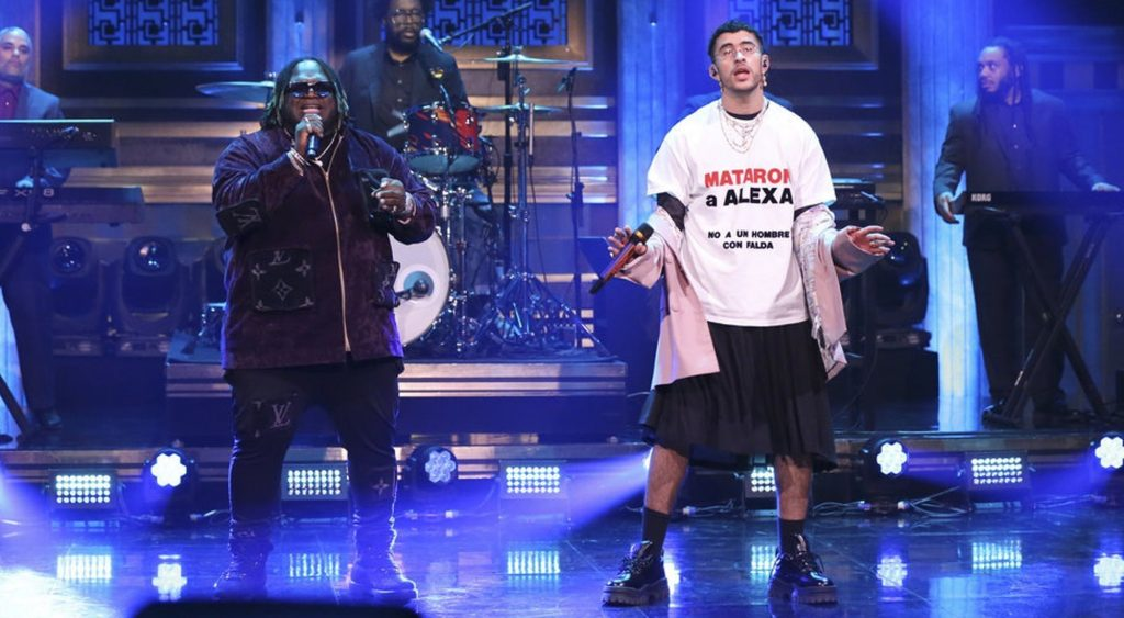 Bad Bunny en The Tonight Show with Jimmy Fallon